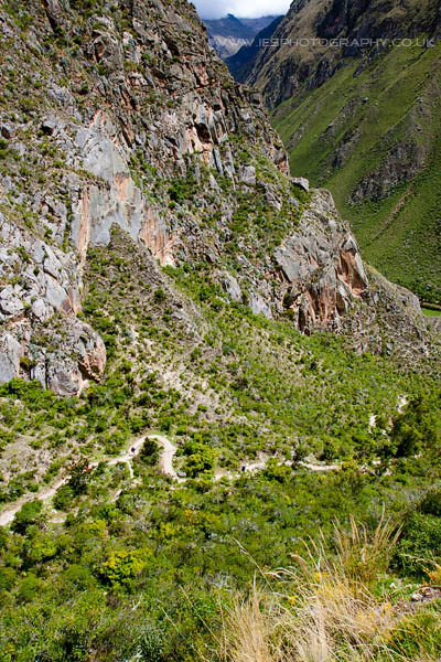 inca trail walk down Peru