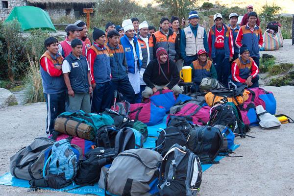 Inca Trail Porters Peru