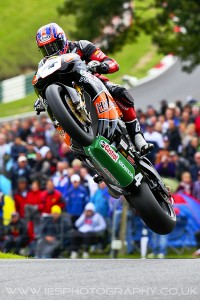 Josh Brookes jumps the mountain at Cadwell Park - British Superbikes