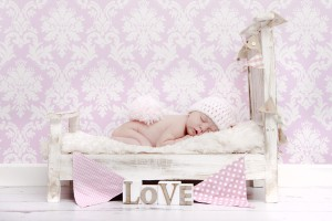 baby bed pink 300x200 Newborn Baby Photography